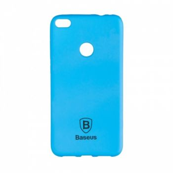 Яркий силиконовый чехол Colorit от Baseus для Huawei P8 Lite синий