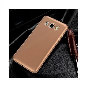 Ультратонкий чехол пенал золотого цвета Silk Touch для Samsung Galaxy J5 2016