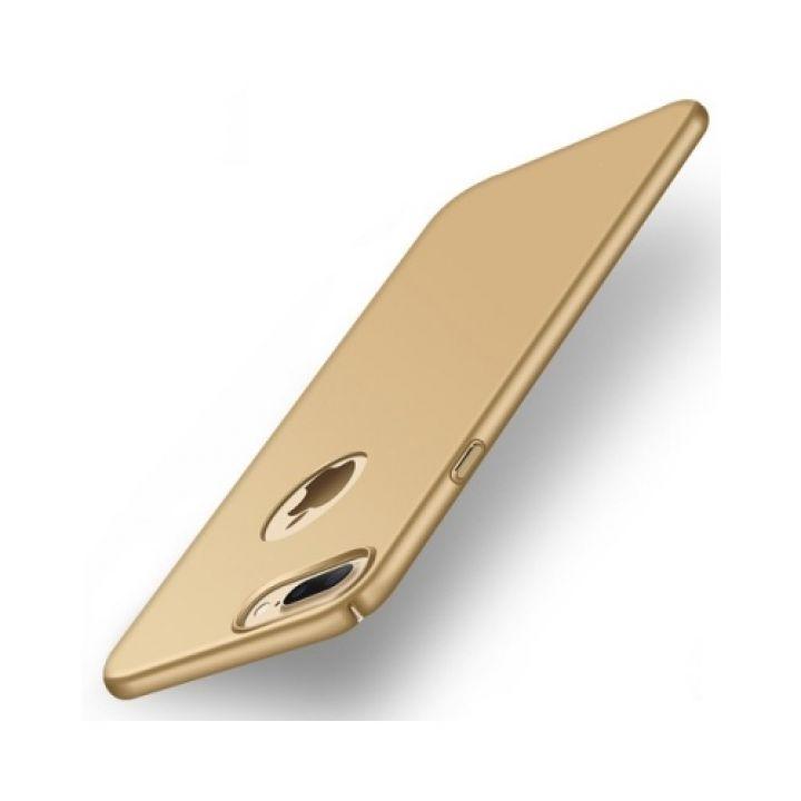 Золотой пластиковый защитный чехол бампер Silk Touch для iPhone 7 Plus