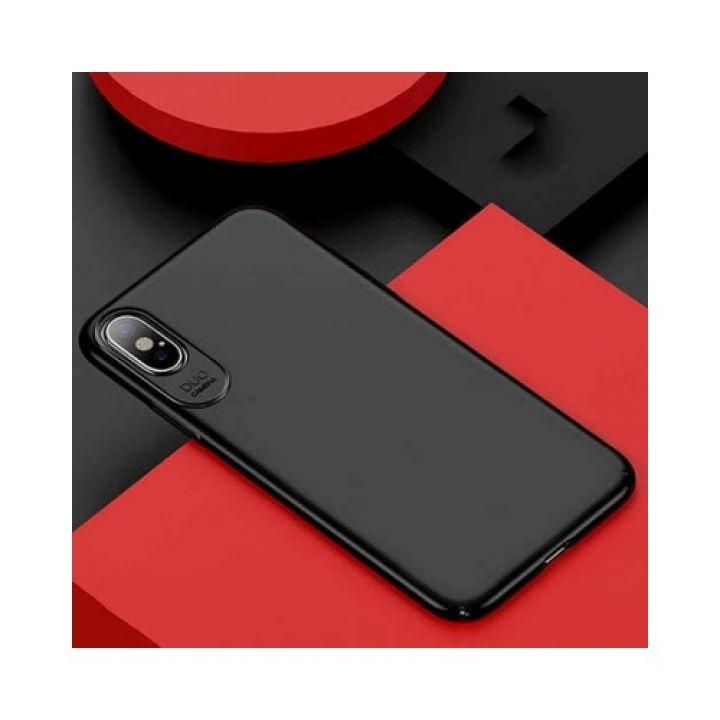 Ультратонкий чехол бампер Silk Touch для iPhone X черный