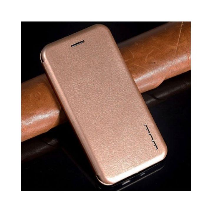 Золотой кожаный чехол книжка Luxor для iPhone 7 Plus