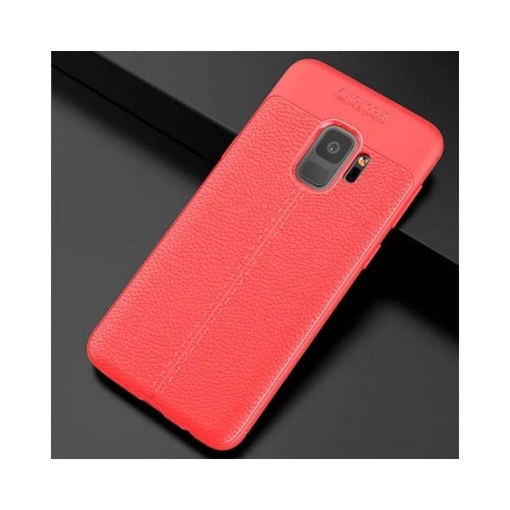 Яркий чехол пенал под кожу Comby Red для Samsung Galaxy S9