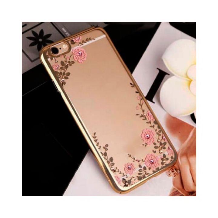 Золотой чехол накладка Flora Diamond для iPhone 6/6s