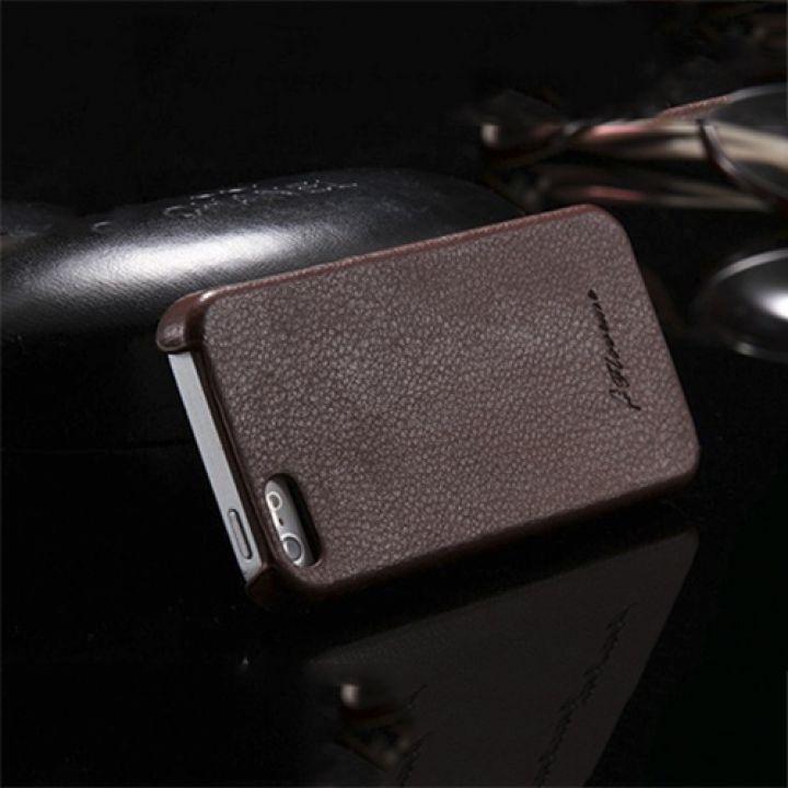 Кожаный чехол-накладка Brown для iPhone 5/5S от Floveme