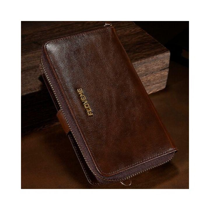 Коричневый чехол бумажник Elite для iPhone 7