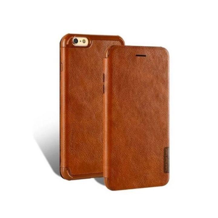Классический чехол флип из кожи Fashion Brown для iPhone 8 Plus