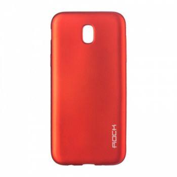 Плотный силиконовый чехол Matte от Rock для Samsung A720 (A7-2017) красный