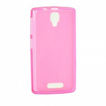 Оригинальная силиконовая накладка для Meizu M5c розовый