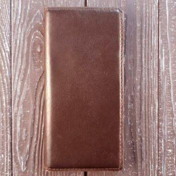 Кожаный темно-коричневый чехол книжка Simple от Jitnik для Samsung Galaxy Note 8