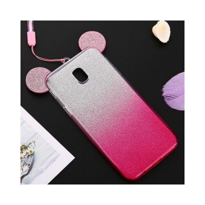 Чехол бампер розового цвета Ears для Samsung Galaxy J730 2017