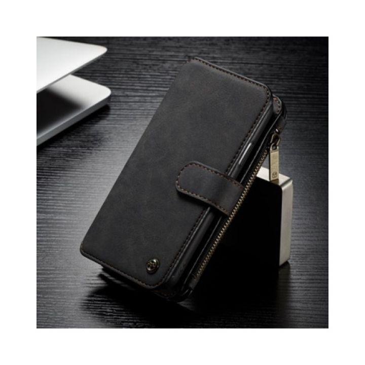 Многофункциональный чехол-бумажник Retro style для iPhone X черный