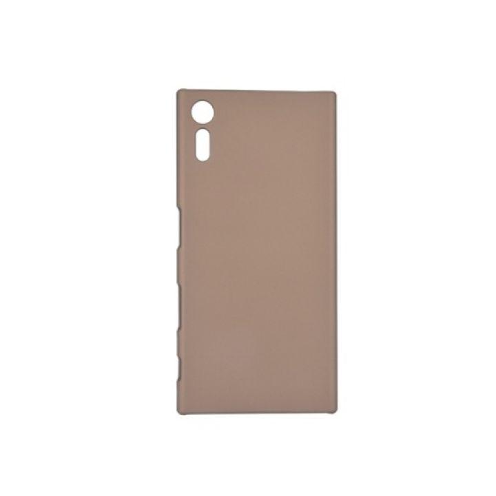 Ультратонкий пластиковый чехол накладка Silk Touch для Sony Xperia XZ gold