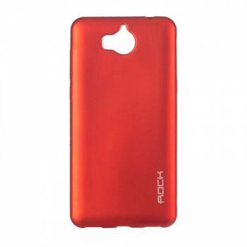 Плотный силиконовый чехол Matte от Rock для Huawei Y6 II красный