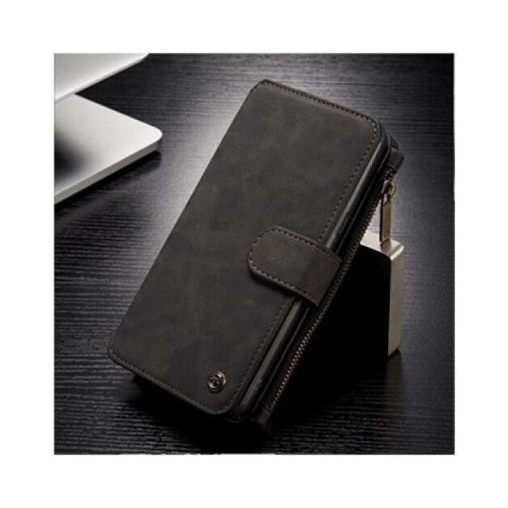 Черный чехол бумажник Luxury Business для Samsung Galaxy S8