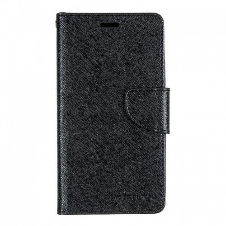 Чехол книжка из материи о Goospery для Huawei Y3 черный
