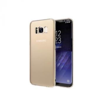 Эксклюзивный чехол бампер Pure Diamonds для Samsung Galaxy S8 gold
