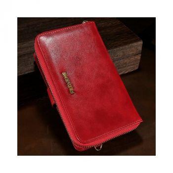 Красный чехол бумажник Elite для iPhone 8