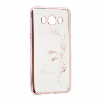 Прозрачный чехол с рисунком и камешками для Samsung J700 (J7) Elegant