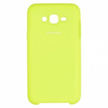 Оригинальный чехол накладка Soft Case для Samsung J700 (J7) Lime