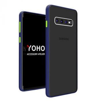 Защитный матовый чехол Yoho для Samsung Galaxy S10 blue
