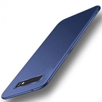 Силиконовый чехол накладка Elastic синего цвета для Samsung Galaxy S10