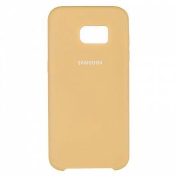 Оригинальный чехол накладка Soft Case для Samsung S7 Edge золотой