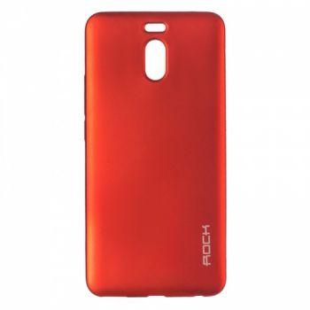 Плотный силиконовый чехол Matte от Rock для Meizu M6 красный