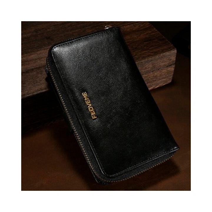 Элегантный черный чехол бумажник Elite для iPhone 8