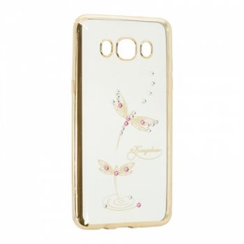 Прозрачный чехол с рисунком и камешками для Meizu U10 Dragonfly