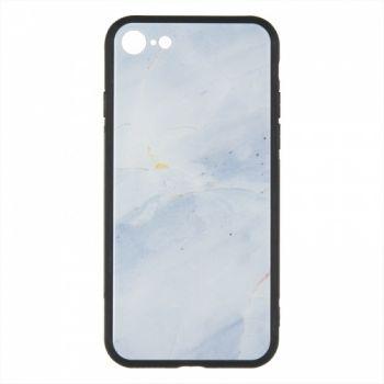 Силиконовая накладка с принтом от iPaky для iPhone 7 белый Marmor