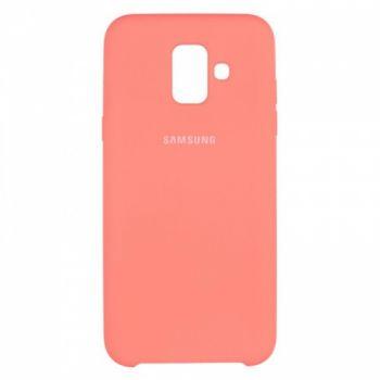 Оригинальный чехол накладка Soft Case для Samsung A600 (A6-2018) розовый
