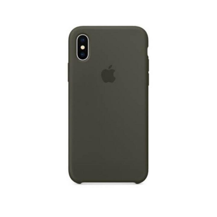 Силиконовый чехол накладка Original Copy для iPhone X серый