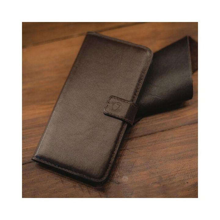 Кожаный чехол книжка Klassika от Jitnik для Samsung Galaxy S7 edge, коричневый
