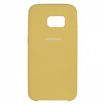 Оригинальный чехол для Самсунг Галакси c7 накладка Soft Case золотая