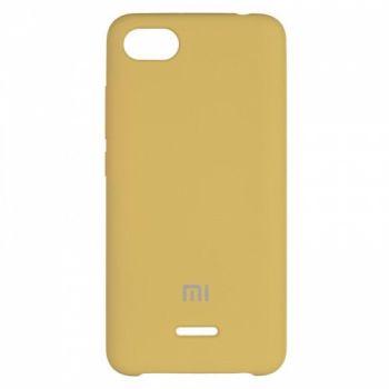 Оригинальный чехол накладка Soft Case для Xiaomi Redmi 6a Gold