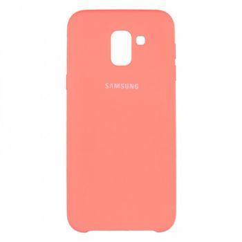 Оригинальный чехол накладка Soft Case для Samsung J600 (J6-2018) розовый