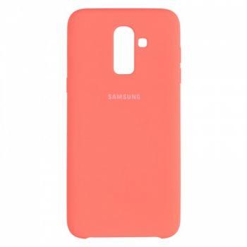 Оригинальный чехол накладка Soft Case для Samsung J810 (J8-2018) розовый
