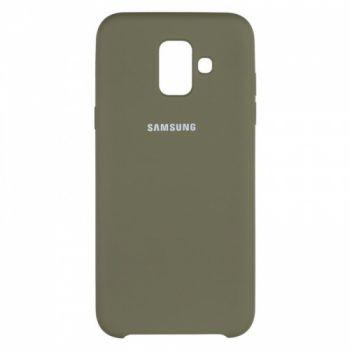 Оригинальный чехол накладка Soft Case для Samsung A600 (A6-2018) зеленый