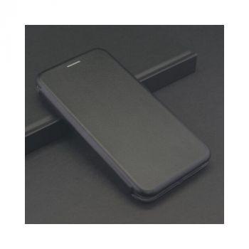 Черный чехол флип из кожи Luxor для iPhone X