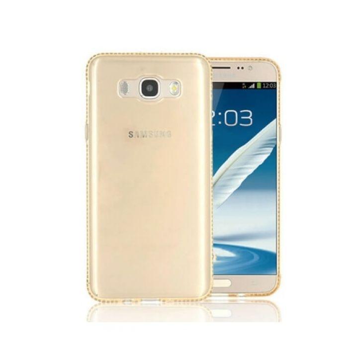 Чехол накладка Luxury Diamond для Samsung Galaxy J5 2016 gold