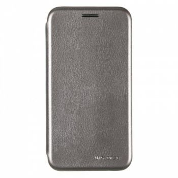 Чехол книжка из кожи G-Case Ranger для Samsung A600 (A6-2018) серый