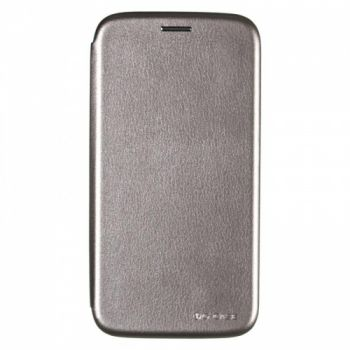Чехол книжка из кожи G-Case Ranger для Samsung J510 (J5-2016) серый
