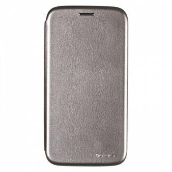 Чехол книжка из кожи G-Case Ranger для Samsung J700 (J7) серый