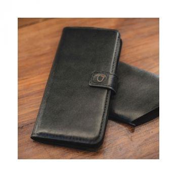 Кожаный чехол книжка Klassika от Jitnik для Samsung Galaxy S8, черный