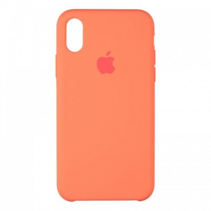 Оригинальный чехол накладка Soft Case для iPhone X оранжевый