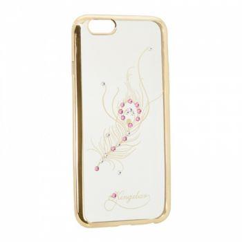 Прозрачный чехол с рисунком и камешками для Meizu M5 Firebird