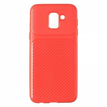 Чехол хамилион с прозрачной половиной для Samsung J600 (J6-2018) красный
