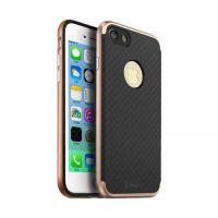 Накладка Carbon от iPaky с пластиковой обводкой для iPhone 7 Plus золото