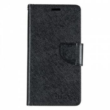 Чехол книжка из материи о Goospery для Huawei Y7 черный