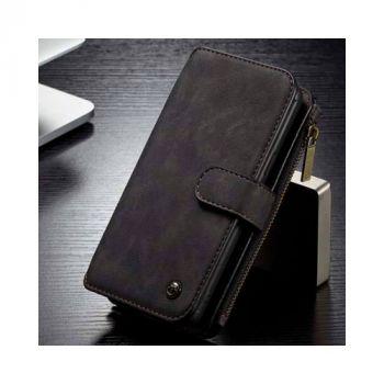 Черный кожаный бизнес чехол бумажник для Samsung Galaxy S9 Plus